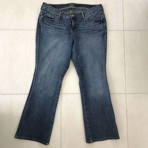Torrid Distressed Straight Denim Stretch Jeans